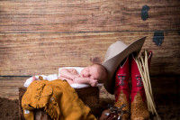 Raleigh, NC Newborn Photographer; North Carolina Newborn; Newborn; Newborn as bear; Newborn with Cowboy Boots