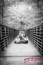 Cary, NC Family Photographer; Family Photos on a Bridge; Cary, NC; Family Photographer