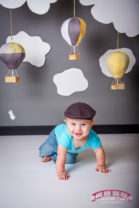 Samuel William in the Red Bridge Photography Raleigh Baby Studio