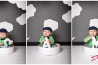 Samuel William in the Red Bridge Photography Raleigh Baby Studio at nine months