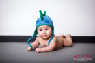 Samuel William in the Red Bridge Photography Raleigh Baby Studio at five months