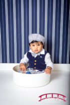 Raleigh-First-birthday-photography-with-blue-and-white-theme
