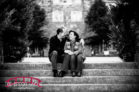 Duke-campus-and-american-tobacco-campus-engagement-session-with-red-and christmas-theme