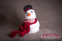 North Carolina Newborn Baby Photographer, Newborn as a snowman, newborn girl photographer, Raleigh-Durham, NC Newborn Photographer