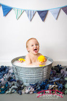 Raleigh - Durham Studio ONE Cake smash and bath session, Raleigh, NC child portrait photographer