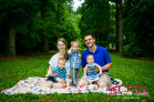 Knightdale Family Photographer with twin 6 month old babies