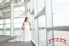 Modern Bridal Portrait Session at the RDU General Aviation Terminal