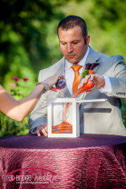 Eggplant and Orange themed wedding at the Highgrove Estate in Raleigh, NC