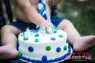 Polka Dot Themed Boy cake smash