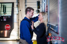 Firehouse and Engagement session with Firefighter in Durham and Raleigh, NC featuring Madison and Nick