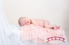 Custom Newborn Portraiture in Raleigh, NC Studio featuring Isla