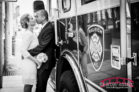 Wake County Courthouse Wedding Photography with Cynthia and Clarence and a Raleigh Firehouse Firetruck