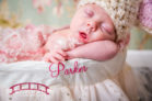 Parkers Raleigh, NC Newborn Studio Photography session with princess theme