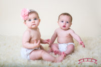 Waylan & Presley in the Raleigh, NC Baby Studio