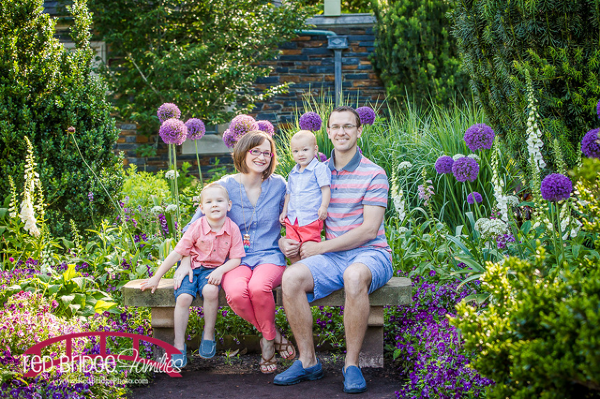 Duke Gardens and Campus Family Photograph in Durham, NC