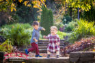 Family-fall-portraits-in-the-garden-with-a-dog-in-durham
