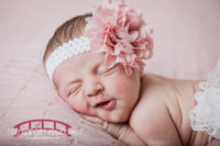 Charlotte's-raleigh-north-carolina-studio-newborn-session-with-pink-and-snowman