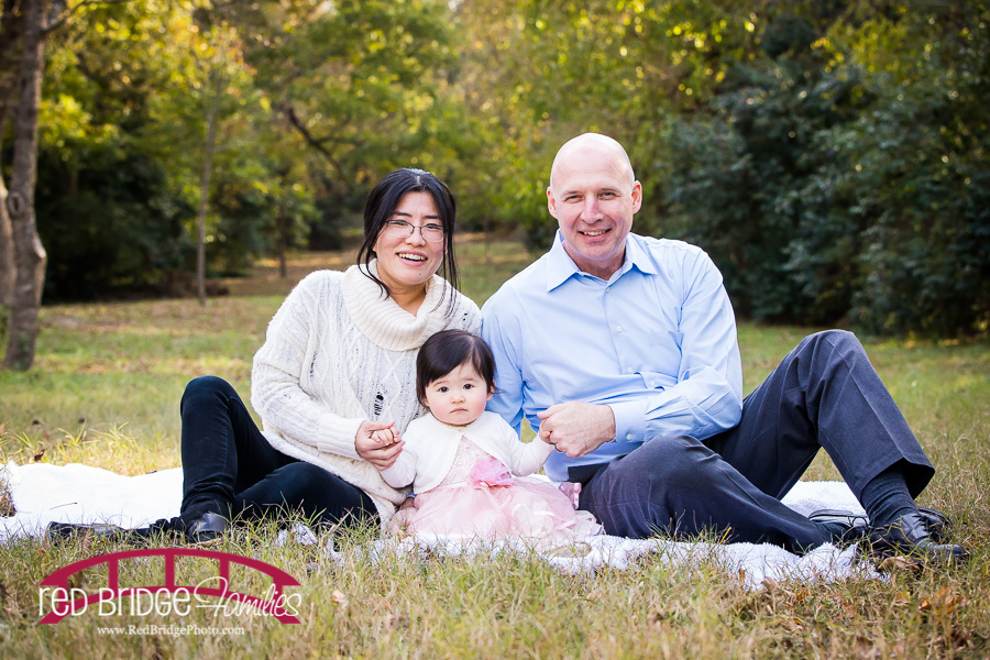 Pink And Cream Late Fall Family Session With