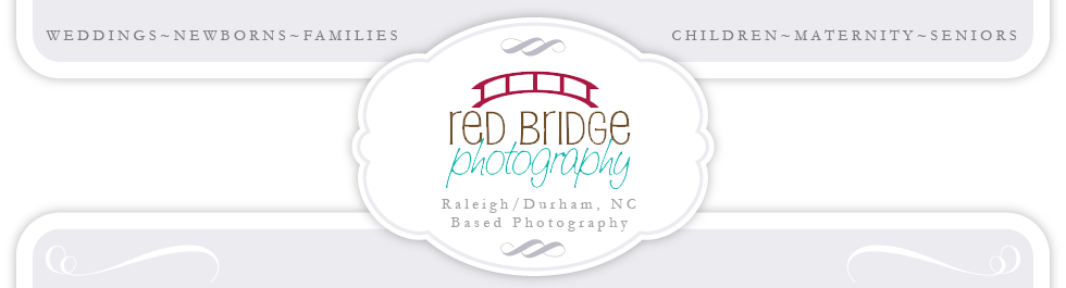 Raleigh, NC Wedding and Newborn Photographer – Red Bridge Photography logo